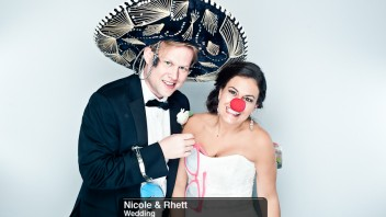 Nicole &#038; Rhett | A Charlotte Wedding Photobooth